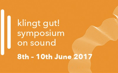 """A White Bright Light"" auf dem Klingt gut! – Symposium on Sound"
